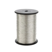 Nickel Silver Spun On Silk, 0.38 mm, 250 g