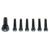 Pins and Endbutton, 7-Piece Set, Ebony with Pearl Eye