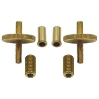 Bridge Adjustment Screws, Brass, Set