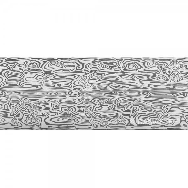 Дамасская сталь Damasteel DS93X Bifrost, 26 x 3,2 x 180 мм