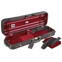 Jakob Winter Super Light Oblong Case, Violin 4/4, black/red