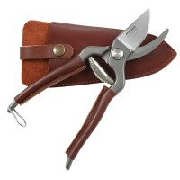 Arno French Small Pruning Shears, Leather-Handled