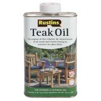 Rustins Teak Oil, Food-safe, 1 l