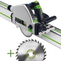 SET: Festool Plunge-cut Saw TS 55 REBQ-Plus-FS + extra Universal Saw Blade W28