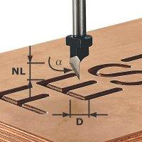 Festool Script-cutter Shank 8 mm HW S8 D11/60°
