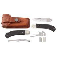 Hiro Folding Knife Kit Suminagashi, structured Micarta