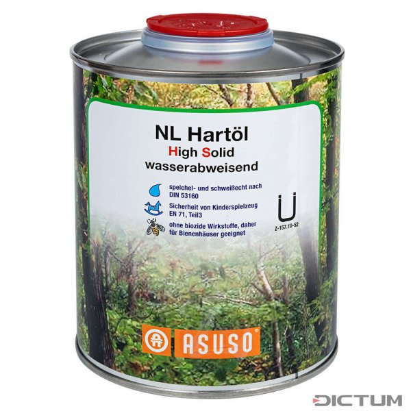 ASUSO NL Hard Oil High Solid, Water-repellent, 750 ml
