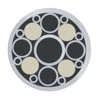 Mosaikpin, Edelstahl, Ø 9,5 mm, Nr. 9