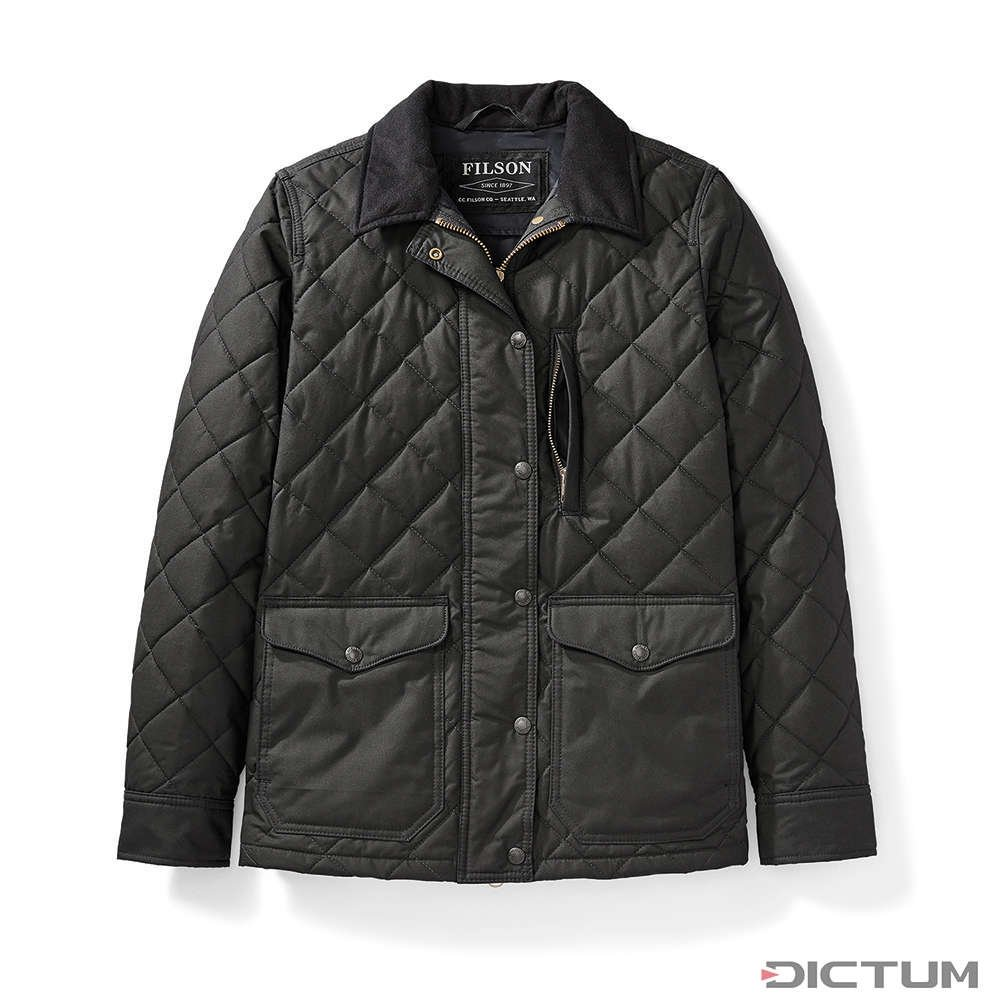 Filson Women S Quilted Mile Marker Navy Gray Xs