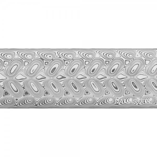 Дамасская сталь Damasteel DS93X Hakkapella, 32 x 4 x 210 мм