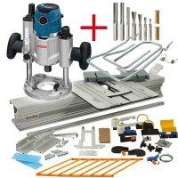SET: WoodRat WR900, Fräsersatz 2, Tauchgriff C/F + Bosch GOF 1600 CE