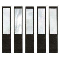 Perlmutter-Schübchen mit Unterlage, Makassar, weiß, 5 Stck, Violin, Viola