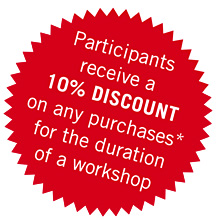10% discount for workshop participants