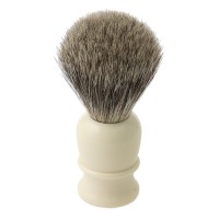 Shaving Brush Thiers-Issard, Badger Hair, Plastic Handle, White