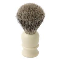 Blaireau Thiers-Issard, poils de blaireau, poignée synthétique, blanc
