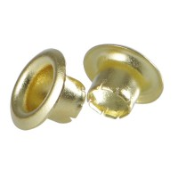 Brass Eyelets, Ø 5 mm, 250-Piece Set