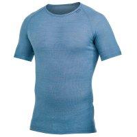 Tricot de corps Woolpower Lite, bleu nordique manches courtes, M