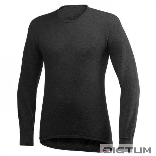 Woolpower Long-Sleeved Crewneck, Black, 200 g/m², Size S