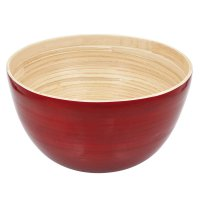 Bamboo Bowl Large, Red