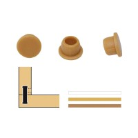 Lamello Clamex Cover Caps 90°, Beech, 100 Pieces