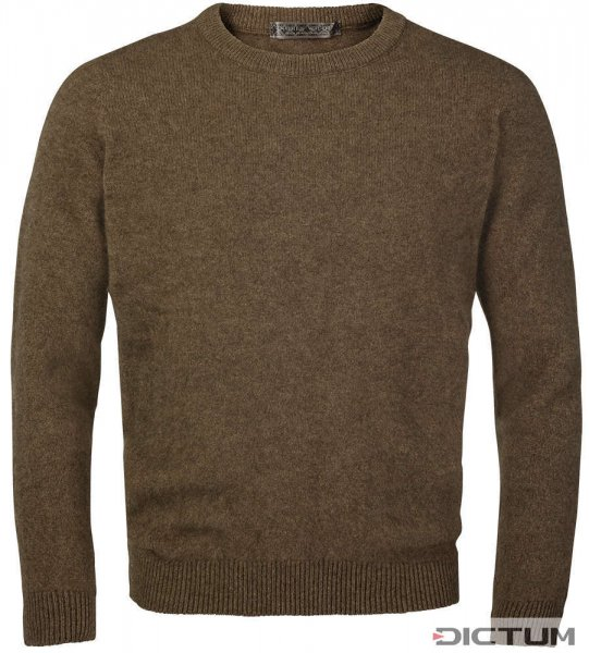 Possum Merino Men's Sweater, Brown Melange, Size M