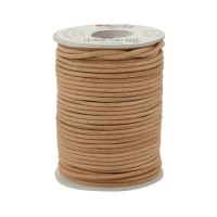 Cow Leather Straps, Round, Natural, 22.8 m