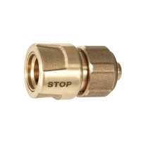 Geka Hose Coupling, Brass, with Water Stop, ½ Inch, Drinking Water