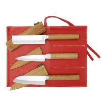Small Knife with Sheath, 3-Piece Set