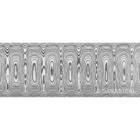 Damasteel DS93X Odins Eye Damascus Steel, 32 x 2.5 x 210 mm