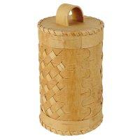 Barattolo per conserve, corteccia di betulla con intreccio