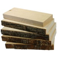 Limewood Boards, Sawn Surface, 5-Piece Set