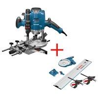 Bosch Oberfräse GOF 1250 LCE Professional in L-BOXX + FSN OFA 32 Kit 800