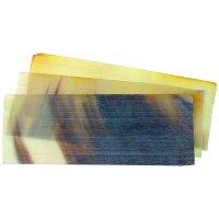 Plaque de corne de vache, plane, transparente