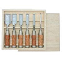 Ciseaux à bois hybride en acier Damas, jeu de 6 pièces