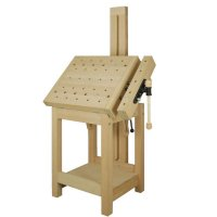 DICTUM Sculptor's Bench with Carving Support