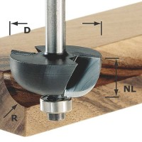 Festool Flute Cutter Shank 8 mm HW S8 D31,7/R9,5 KL