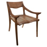 Sam Maloof-Style Low-Back Chair