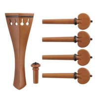 c:dix Selection Set, Boxwood, Black Trim, 6-Piece Set, Violin 4/4, Thin