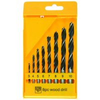Wood Twist Drills, 8-Piece Set