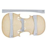 Herdim Arching Templates, 4-Piece Set, Top, Violin, Guarneri Kreissler 1734