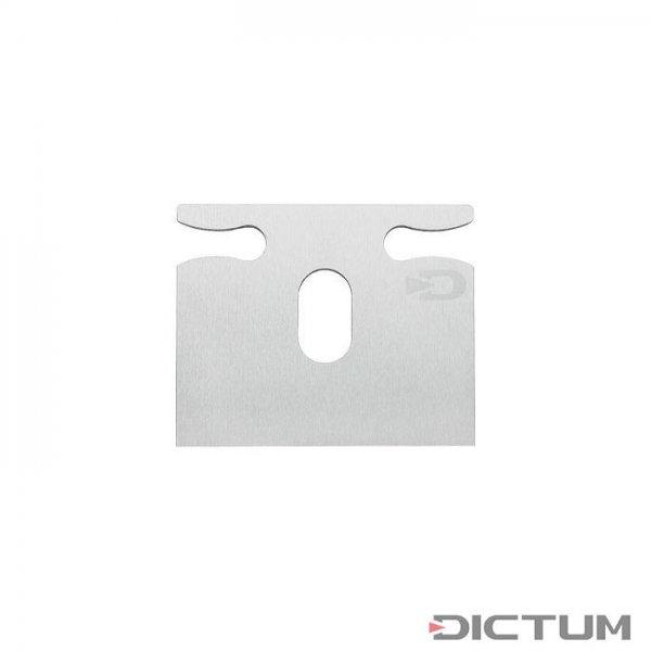 DICTUM辐条剃须刀的替换刀片,直底,SK4钢。