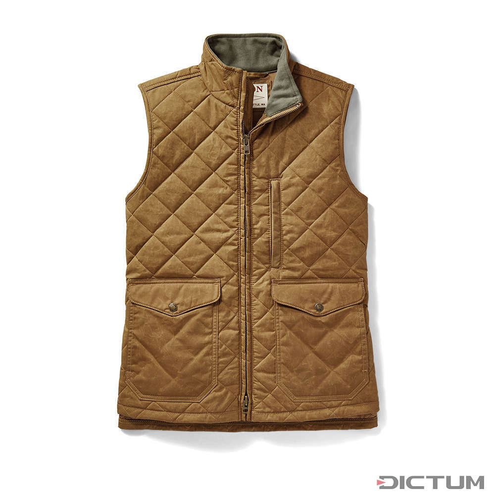 Filson Women S Quilted Mile Marker Vest Tan Xs Workwear Dictum