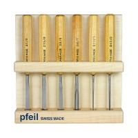 Pfeil Compact Carving Tools, 6-Piece Set