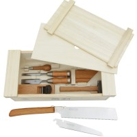 Japanese Tool Box, Equipped, 10-Piece Set