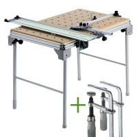 Festool Table multifonctions MFT/3 + 2 Serre-joints FSZ 120