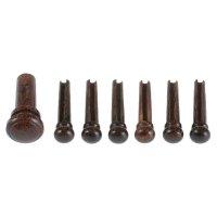 Pins and Endbutton, 7-Piece Set, Tamarind