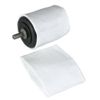 Polishing Cloth Sleeves for No. 140, 2 Piece-Set, cylindric Ø 42 x 44 mm
