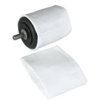 Stoff-Polierhülsen für Schleifkörper Nr. 140, 2 Stück, zylindrisch Ø 42 x 44 mm