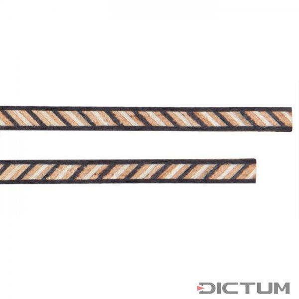 Einlegespäne schwarz-Mosaik-schwarz, 2-teiliger Satz, Breite 2,5 mm