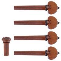 Harald Lorenz Set, Boxwood, Black Trim, 5-Piece Set, Violin 4/4, Medium